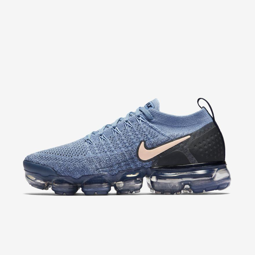 Air VaporMax Flyknit 2 - Women's Shoes Blue/Tint  942843-401
