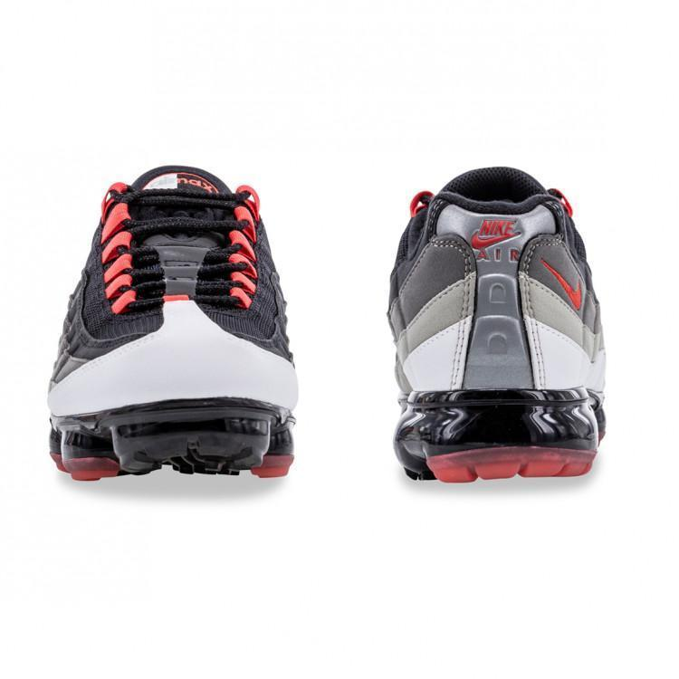 quality design fef18 94550 Air VaporMax 95 Men's Shoes AJ7292-101 Dark Pewter - Hot Red ...