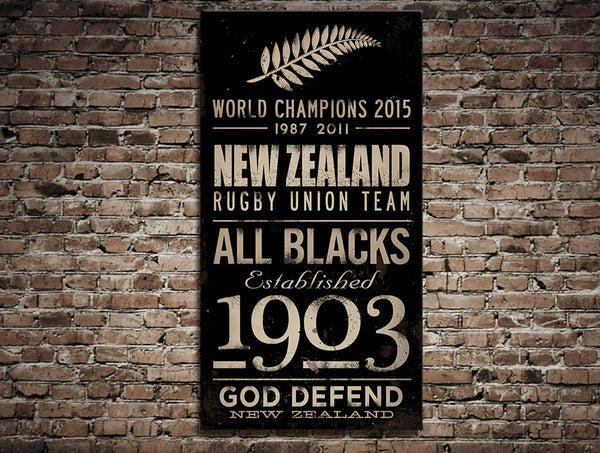 New Zealand All Blacks Canvas Print