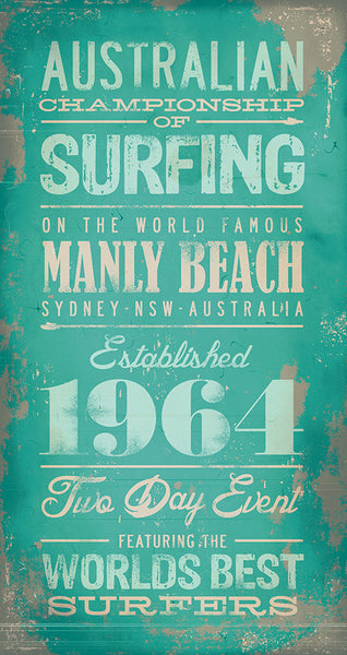 Australian Championship of Surfing - Manly Beach - Canvas Print