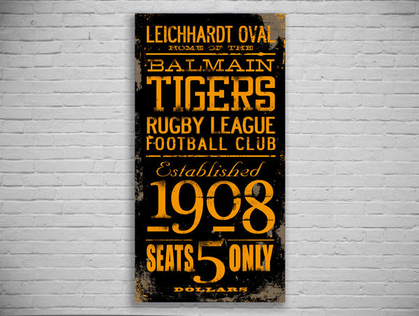Balmain Tigers Turnstyle Canvas Print