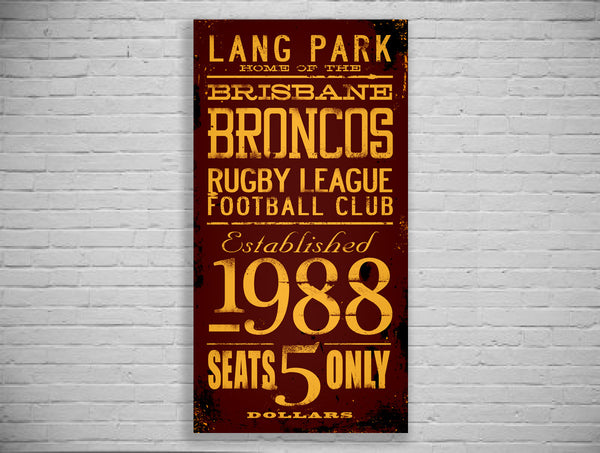 Broncos Turnstyle Canvas Print