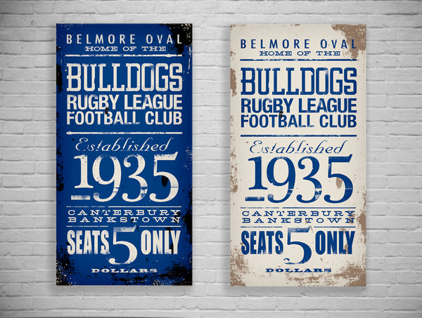 Bulldogs Turnstyle Canvas Print
