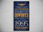 Cowboys PREMIERS 2015 Turnstyle Canvas Print