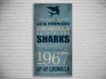 Cronulla Sharks 2016 Premiers Turnstyle Canvas Print