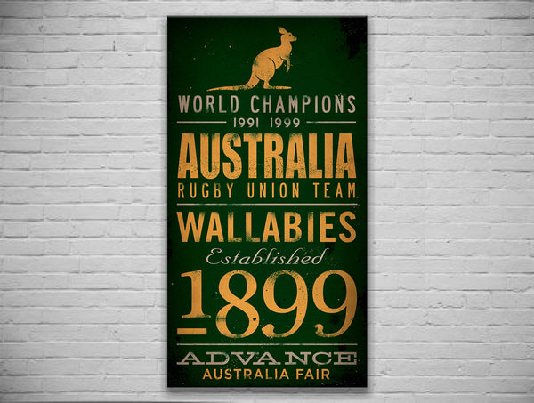 Australia Wallabies Canvas Print