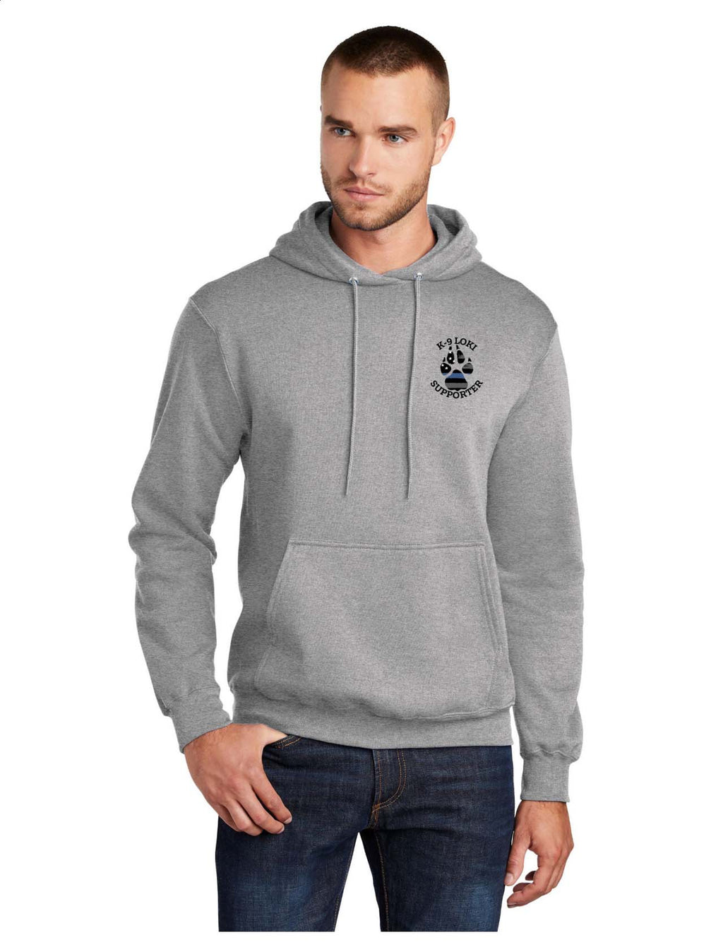K9 Loki Supporter - Port & Company® Core Fleece Pullover Hooded Sweatshirt