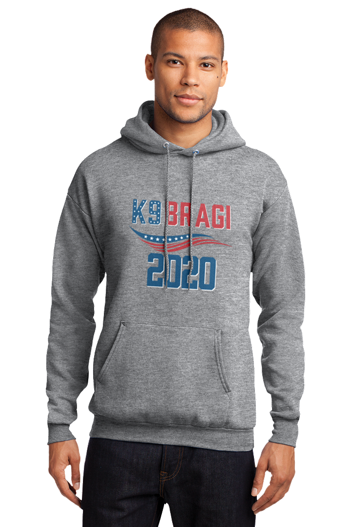 K9 Bragi Make America Safe Again - Port & Company® Core Fleece Pullover Hooded Sweatshirt