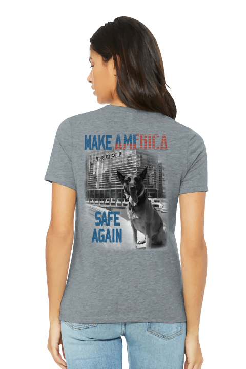 K9 Bragi Make America Safe Again - BELLA+CANVAS ® Women's Relaxed Jersey Short Sleeve Tee