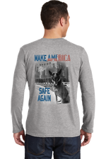 K9 Bragi Make America Safe Again - BELLA+CANVAS ® Unisex Jersey Long Sleeve Tee