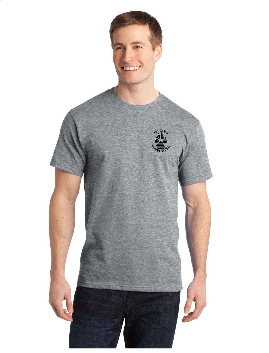 K9 Loki Supporter - Port & Company® Ring Spun Cotton Tee