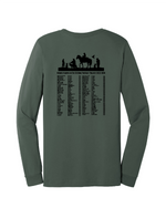 military green back K9HPP - K9 Heroes Painted Jersey Long Sleeve Tee