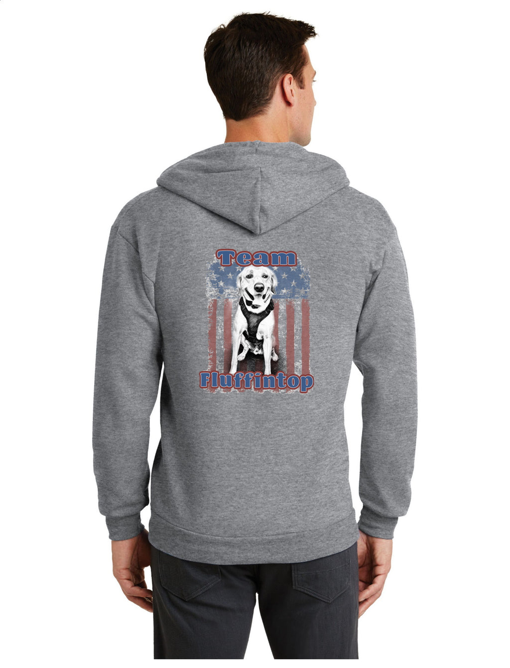 K9 Loki Supporter - Port & Company® Core Fleece Full-Zip Hooded Sweatshirt