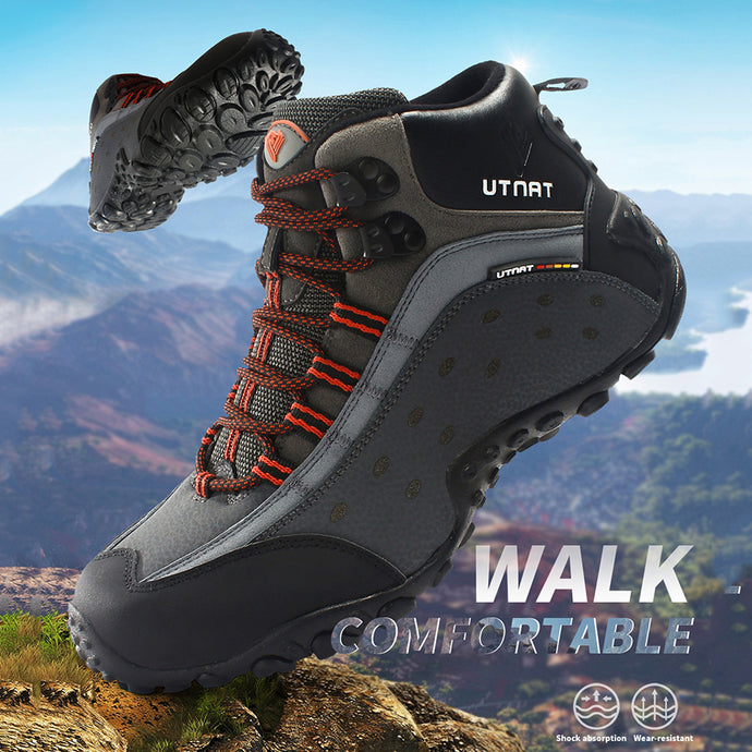 【NEW】Waterproof Hiking Shoes Men Quality Outdoor Trekking Shoes