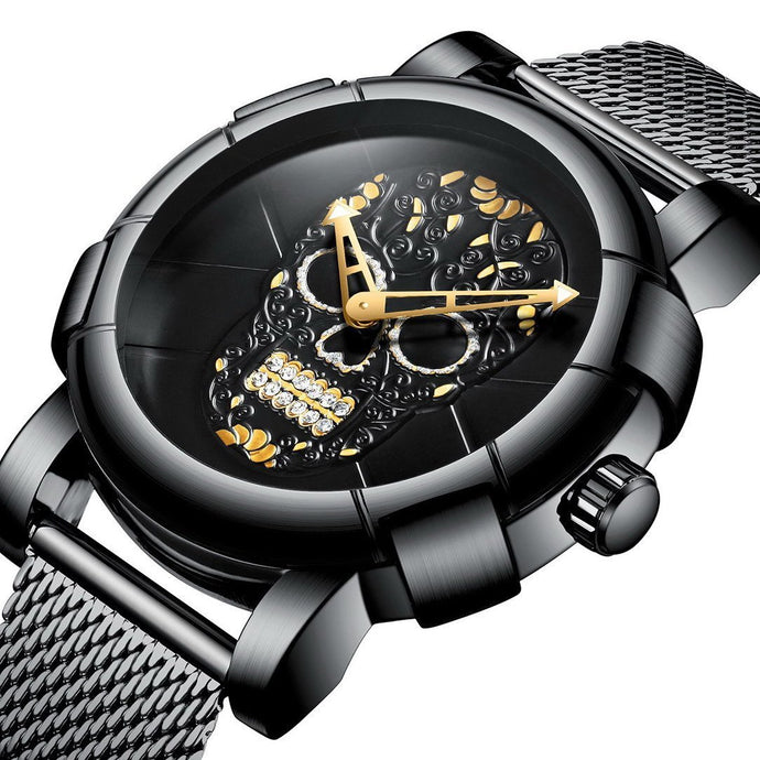DeFiore Superb II - Sugar Skull Watch Mesh