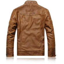 Load image into Gallery viewer, bestonow J Black*Vintage Multi Seam Snap Tab Leather Moto Jacket