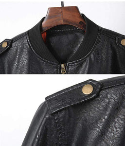 bestonow J Coffee*Motorcycle Locomotive Leather Jacket