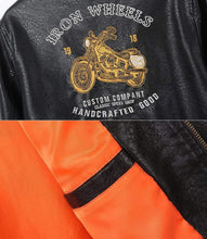 Load image into Gallery viewer, bestonow J Coffee*Motorcycle Locomotive Leather Jacket