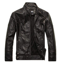 Load image into Gallery viewer, bestonow J M Black*Vintage Multi Seam Snap Tab Leather Moto Jacket
