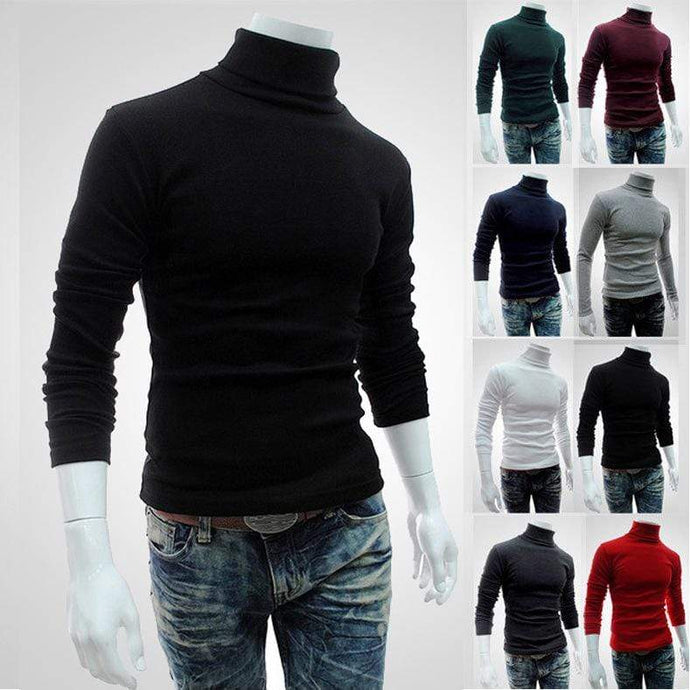 bestonow MShirts Black / M Men's Wear High Collar Solid Color Primer Shirt