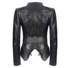 Load image into Gallery viewer, bestonow WLJ PAOLA Moto Leather Jacket