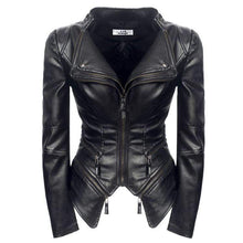 Load image into Gallery viewer, bestonow WLJ S PAOLA Moto Leather Jacket