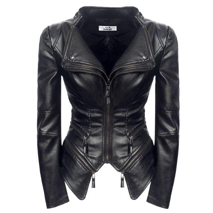 bestonow WLJ S PAOLA Moto Leather Jacket