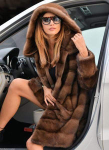 Jesame Fur Coats Brown / S (Faux Fur)Faux Fur Coat