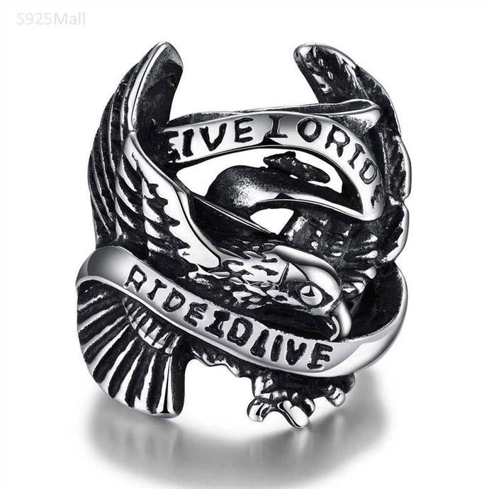 Live To Ride Biker Ring