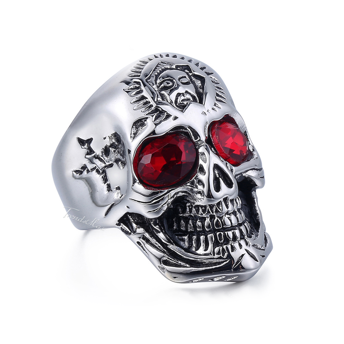 Skull x Ruby Eyes Ring