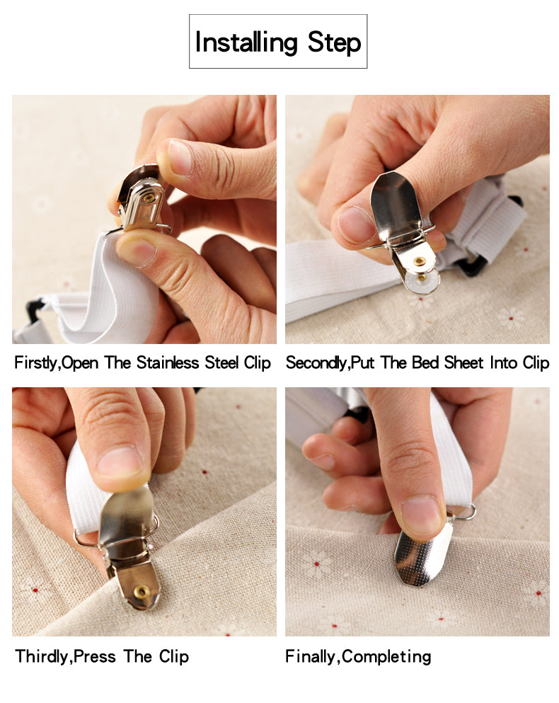 4Pcs/Set Bed Sheet Clip