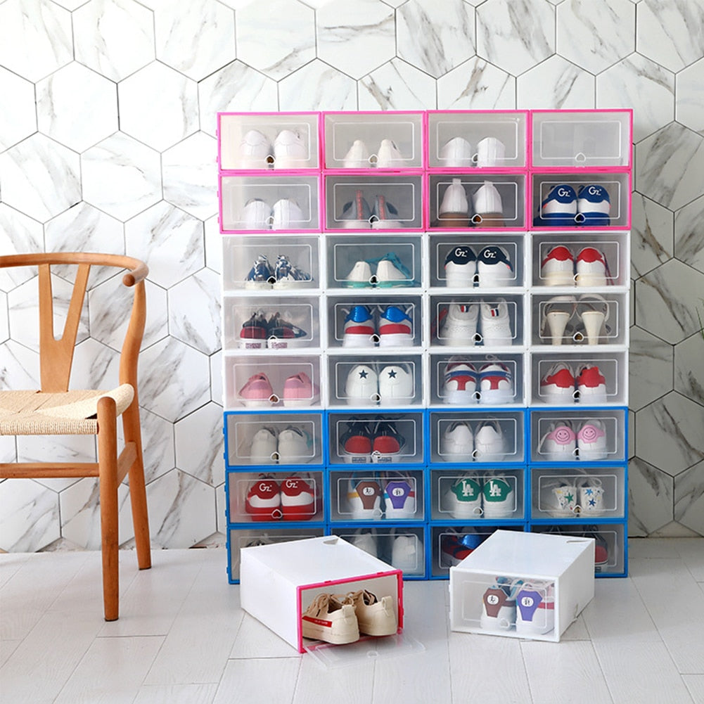 6PCS Flip Shoe Box