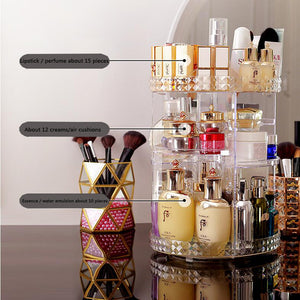 360 Degree Rotating Cosmetic Storage Box
