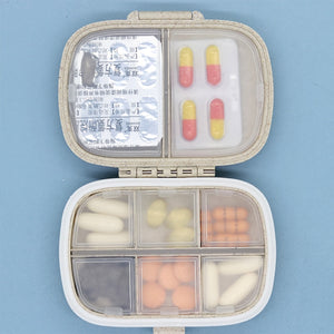 8 grids container for tablets