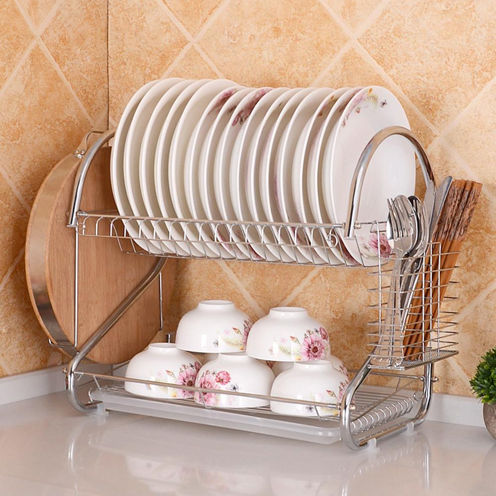 Double Layer Dish Drying Rack
