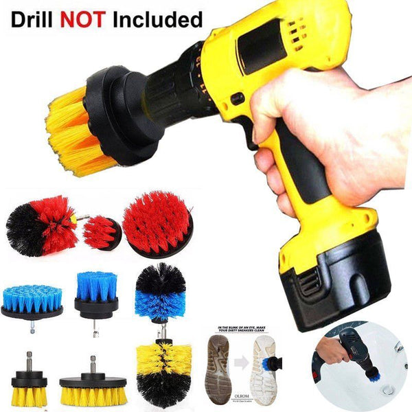 Drill Power Scrubber Brush Set