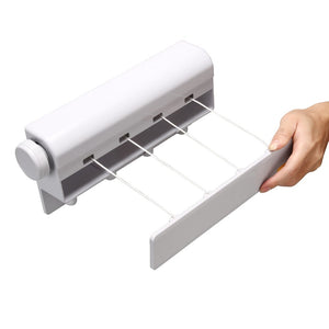 4-Lines Retractable Clothesline Wall