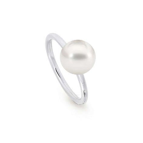 18KWG Single Pearl Ring