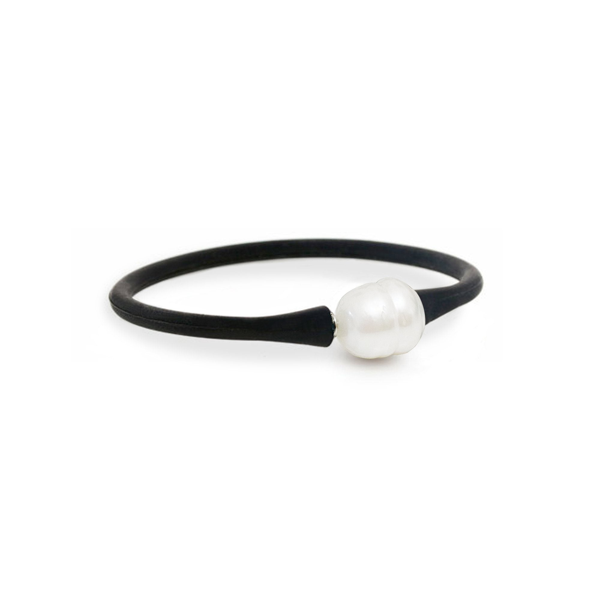 Neoprene Pearl Bracelet - 12mm Large Egg Shape