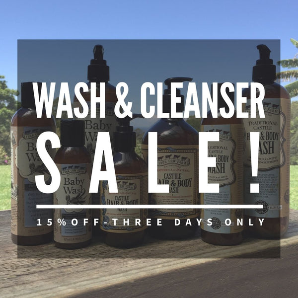 Four Cow Farm Castile Wash & Cleansers SALE
