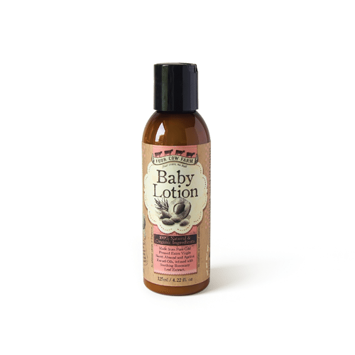 100% Natural Baby Lotion 125ml / 4.22 fl.oz-Moisturizer-Handcrafted Skincare-100% Natural and Organic Foodgrade Ingredients-Four Cow Farm Australia