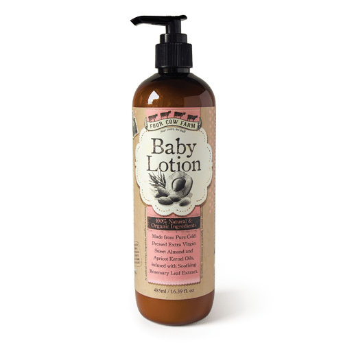 100% Natural Baby Lotion 485ml / 16.39 fl.oz-Moisturizer-Handcrafted Skincare-100% Natural and Organic Foodgrade Ingredients-Four Cow Farm Australia