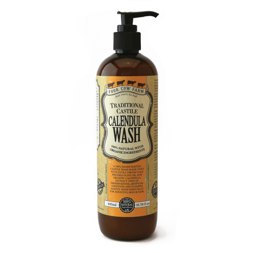 Calendula Hair & Body Wash, Pure Castile, 485ml / 16.39 fl.oz-Wash & Cleansers-Handcrafted Skincare-100% Natural and Organic Foodgrade Ingredients-Four Cow Farm Australia