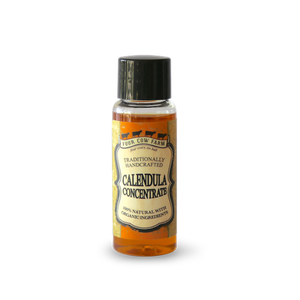 Calendula Concentrate 18ml / 0.60 fl.oz-Handcrafted Skincare-100% Natural and Organic Foodgrade Ingredients-Four Cow Farm Australia