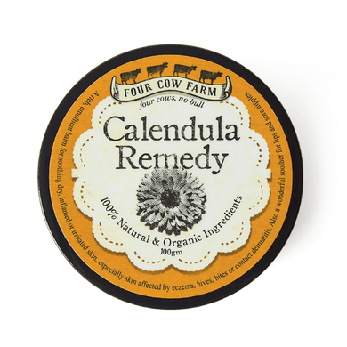 Calendula Remedy (Large) 100g-Balm-Handcrafted Skincare-100% Natural and Organic Foodgrade Ingredients-Four Cow Farm Australia