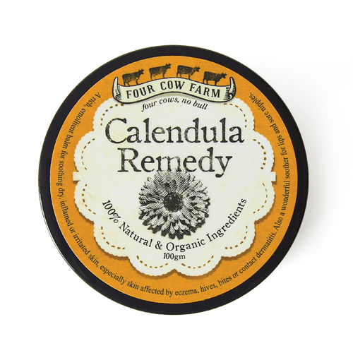 Calendula Remedy Balm (Large) 100g-Balm-Handcrafted Skincare-100% Natural and Organic Foodgrade Ingredients-Four Cow Farm Australia