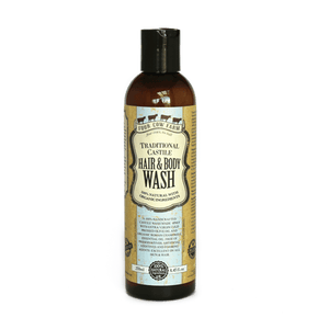 Traditional Castile Hair & Body Wash 250ml / 8.45 fl.oz-Handcrafted Skincare-100% Natural and Organic Foodgrade Ingredients-Four Cow Farm Australia