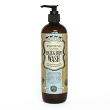 Traditional Castile Hair & Body Wash 485ml / 16.39 fl.oz-Handcrafted Skincare-100% Natural and Organic Foodgrade Ingredients-Four Cow Farm Australia