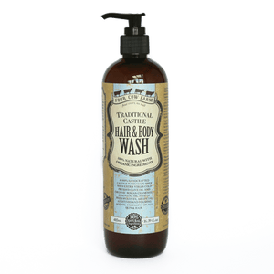 Traditional Castile Hair and Body Wash 485ml / 16.39 fl.oz-Handcrafted Skincare-100% Natural and Organic Foodgrade Ingredients-Four Cow Farm Australia