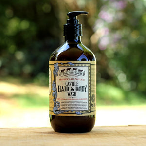 Mother's All-Natural Castile Hair & Body Wash 485ml / 16.39 fl.oz-Handcrafted Skincare-100% Natural and Organic Foodgrade Ingredients-Four Cow Farm Australia
